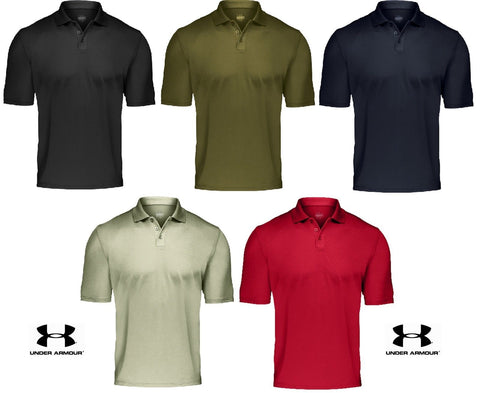 Under Armour Tactical Range Polo Shirt - Mens Loose Fit Collared Golf Shirt Top