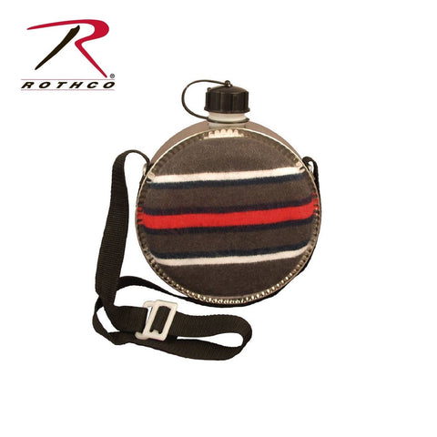 Rothco 2 Quart Striped Desert Canteen - BPA Free 2Qt Canteen With Shoulder Strap