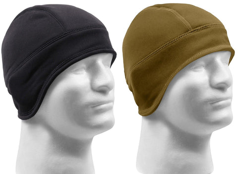 Rothco Arctic Fleece Tactical Cap - Helmet Liner - Black or Brown Winter Ski Hat