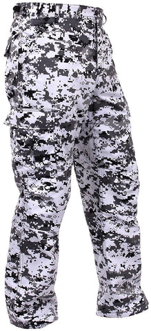 Men's City Digital Camo BDU Cargo Pants - Black & White Camouflage Rothco