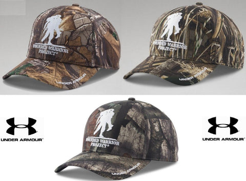Under Armour Wounded Warrior Project Camo Snap Cap - Mens UA Embroidered WWP Hat