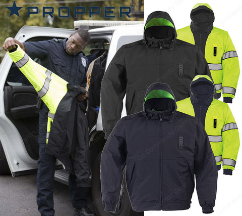 Propper Defender™ Halo II Reversible Hi-Vis Duty Jacket w/ Drop Tail