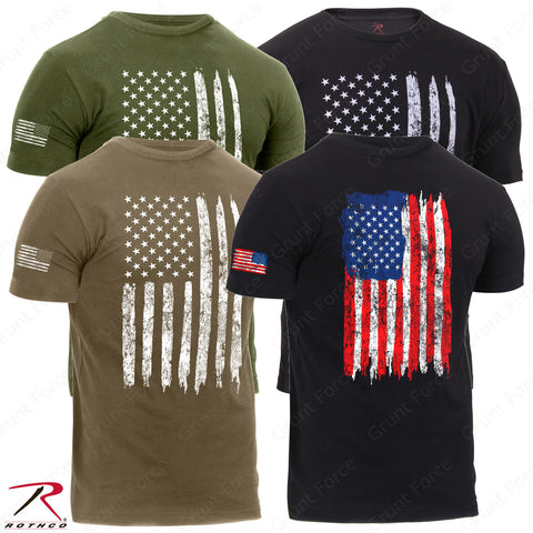 Rothco Men's Athletic Fit Distressed US Flag T-Shirt