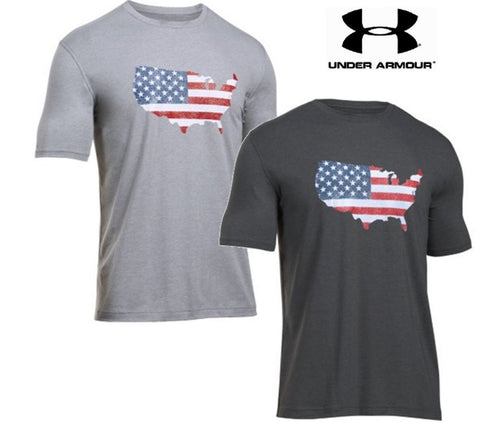Under Armour Men's Short Sleeve UA Freedom Flag Map Tee T-Shirt