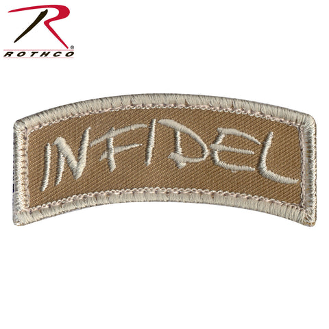 "Rothco Infidel Morale Patch With Hook & Loop Backing - Measures (1¼"" x 3"")"