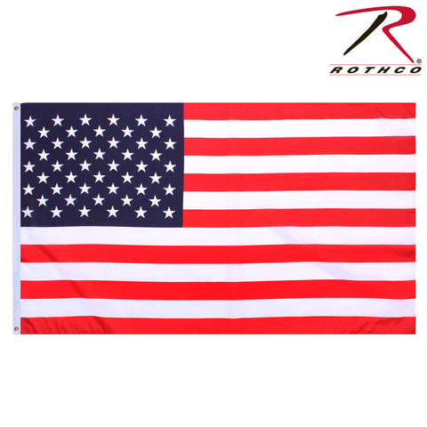 Rothco 2' x 3' American Flag - Polyester U.S. Flag with 2 Grommets