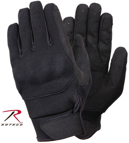 Black Hybrid Hard Knuckle Tactical Gloves - Rothco Mens Field Duty Work Glove
