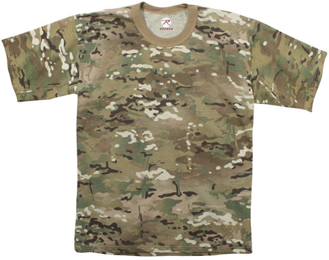 MultiCam T-Shirt 100% Cotton Comfortable - Military Camo S - 3XL Tee Shirt NEW!