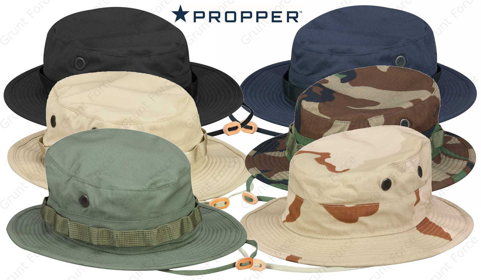 Propper Boonie Sun Hat 100% Cotton Tactical Bucket Hat Jungle Cap -  Mil-Spec. 9c8881d3171b