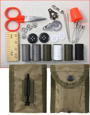 Military Style Sewing Kit Olive Drab G.I. Lightweight Sew Kits w/ Accessories