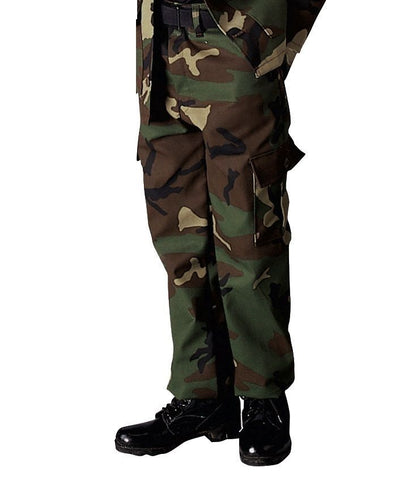Kids Military Type Woodland Camouflage Army BDU Pants