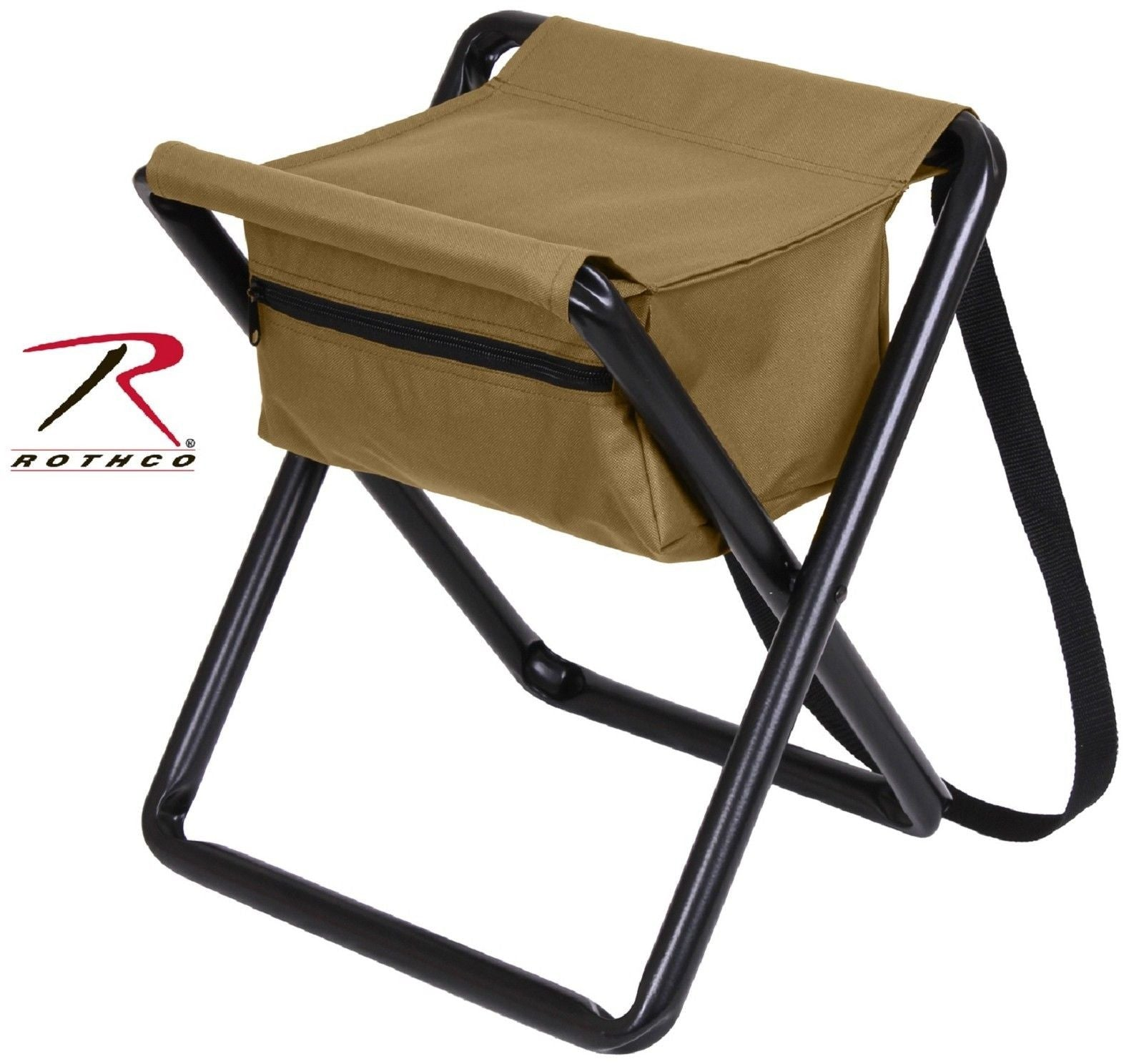 Magnificent Rothco Coyote Brown Aluminum Camping Hunting Outdoor Folding Stool Pouch Ibusinesslaw Wood Chair Design Ideas Ibusinesslaworg