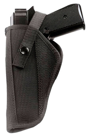 "Black Adjustable Ambidextrous Police Hip Holster For 4"" & 5"" Autos"