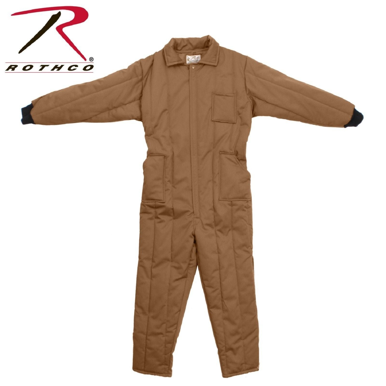 83cd0c103676e ... Coyote Brown Insulated Snowsuit Coverall - Rothco Full Zipper Winter  Snow Suit