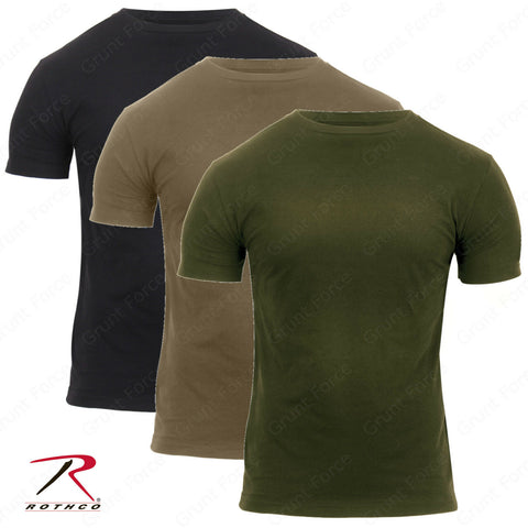 Rothco Mens Athletic Fit Solid Color MilitaryType T-Shirts Tee