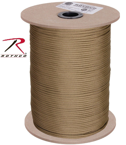 1000' Spool Coyote Brown 550lb Paracord 100% Nylon 7-Strand Parachute Rope Cord
