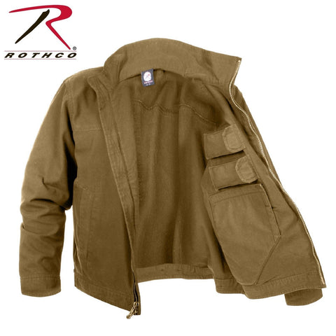 Rothco Lightweight Concealed Carry Jacket - Men's Coyote Brown CCW Tactical Coat