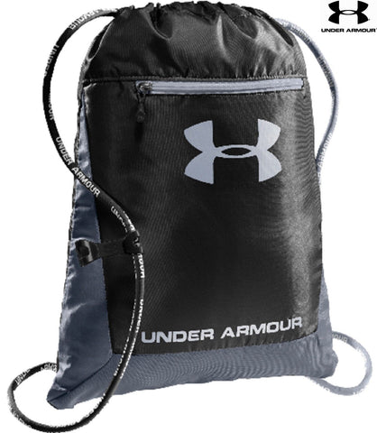 "Under Armour Hustle Sackpack Sport Bag - UA Black 18"" Padded Backpack 1239375"