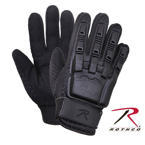 Rothco Armored Hard Back Duty Gloves - Military Black Tactical Glove