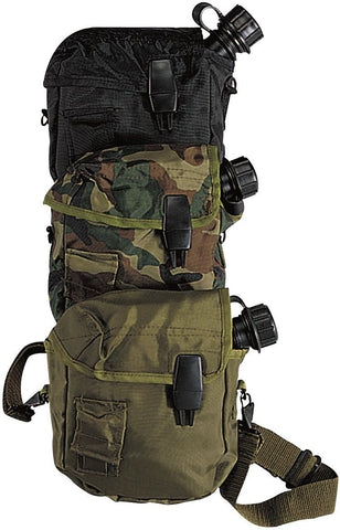 GI Style Tactical 2 Quart Bladder Canteen Cover - Camping/Hiking - Camo Black OD