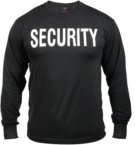 Black 'Security' Shirt - Long Sleeve SECURITY Shirt