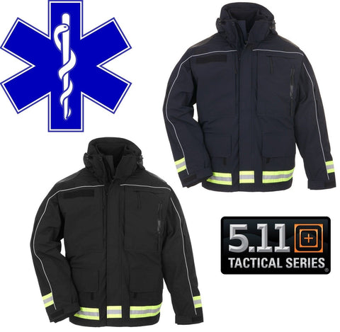 5.11 Tactical First Responders Parka - Black or Navy Blue EMT Reflective Jacket