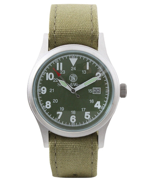 Smith & Wesson Military Watch w/ 3 Watchbands Rugged Mens ...