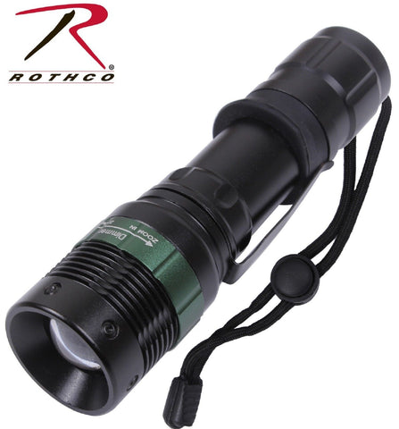 3 WATT Mini LED Flashlight - Rothco Black Compact Aluminum Flash Light