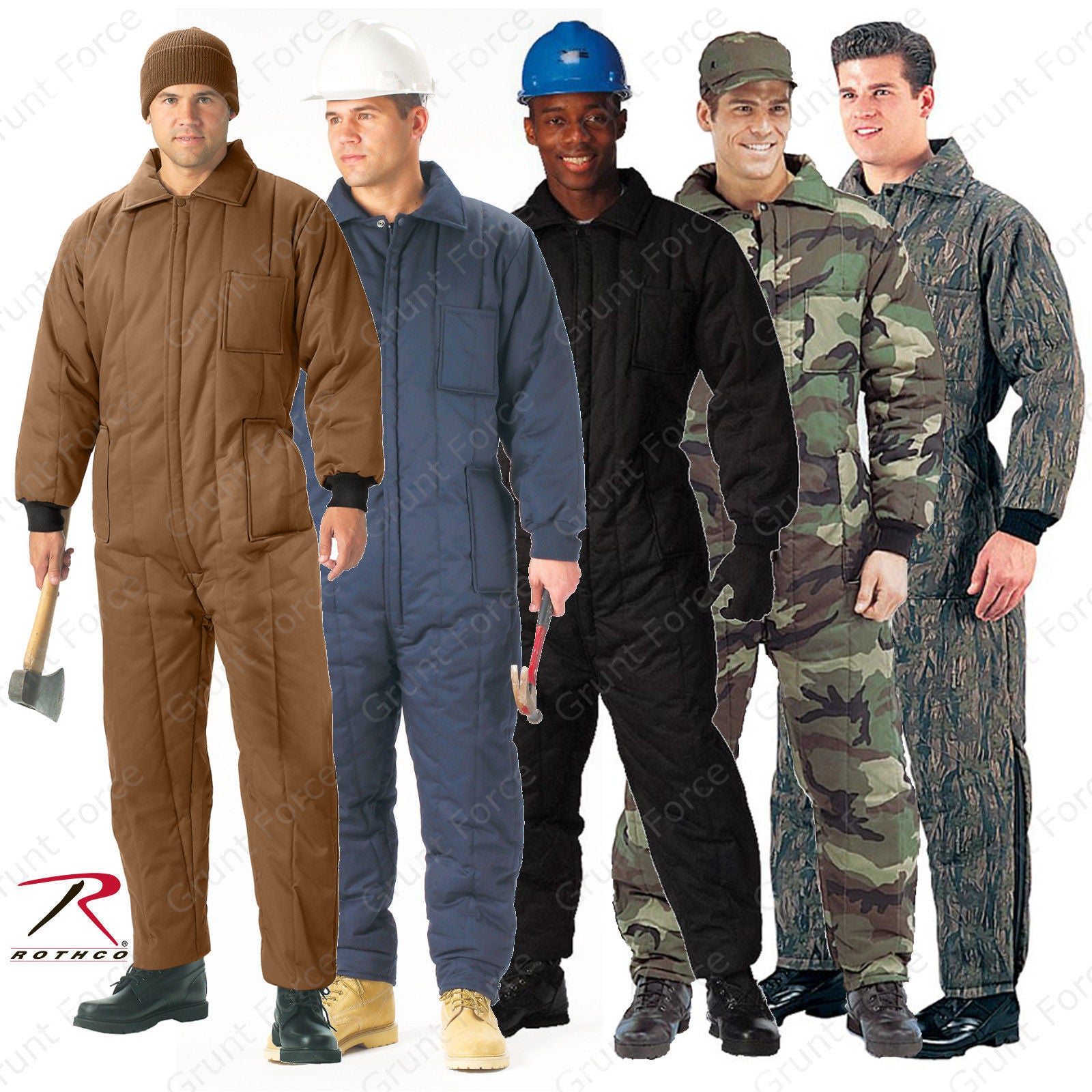e67aac55d2ccd Rothco Heavyweight Insulated Coveralls - One-Piece Winter Work Jumpsuits  Woodland Camo ...