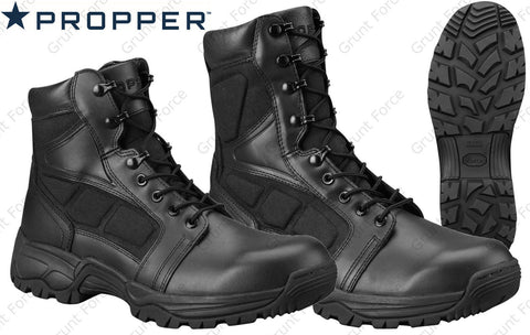 "Propper Series 200 Boots - Black 6"" or 8"" Side Zip Boot w/ YKK Zipper"