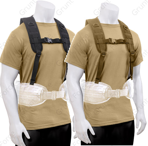 Black or Coyote Brown Tactical Battle Harness - Rothco MOLLE Equipment Rig 1106