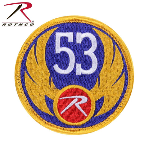 "Rothco 53 Wing Morale Patch - 3"" Round Hook & Loop Tactical Patch"