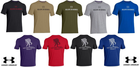 "Under Armour WWP ""Believe In Heroes"" T-Shirt - UA Mens Wounded Warrior Tee Shirt"
