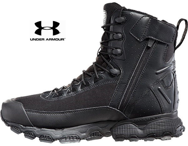 Under Armour Valsetz Side Zip Tactical Boot Black