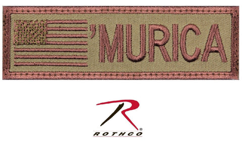 "MultiCam ""MURICA"" Hook Back Tactical Patch - 'MURICA Military Morale Patches"