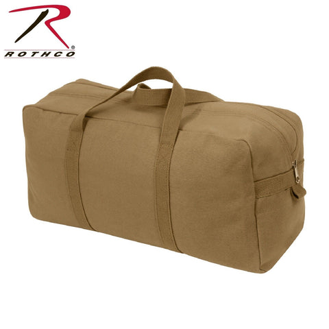 Coyote Brown Canvas Tool Bag - Military Tanker Style Tool Bag w Web Carry Handle