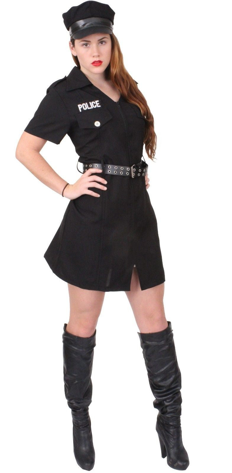 Womens Police Costume - Girls Officer Outfit - Halloween Dress Up Sexy Police  sc 1 st  Grunt Force & Womens Police Costume - Girls Officer Outfit - Halloween Dress Up ...