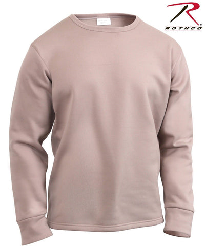 Rothco ECWCS Desert Sand Fleece Lined Cold Weather Long Sleeve Base Shirt Top