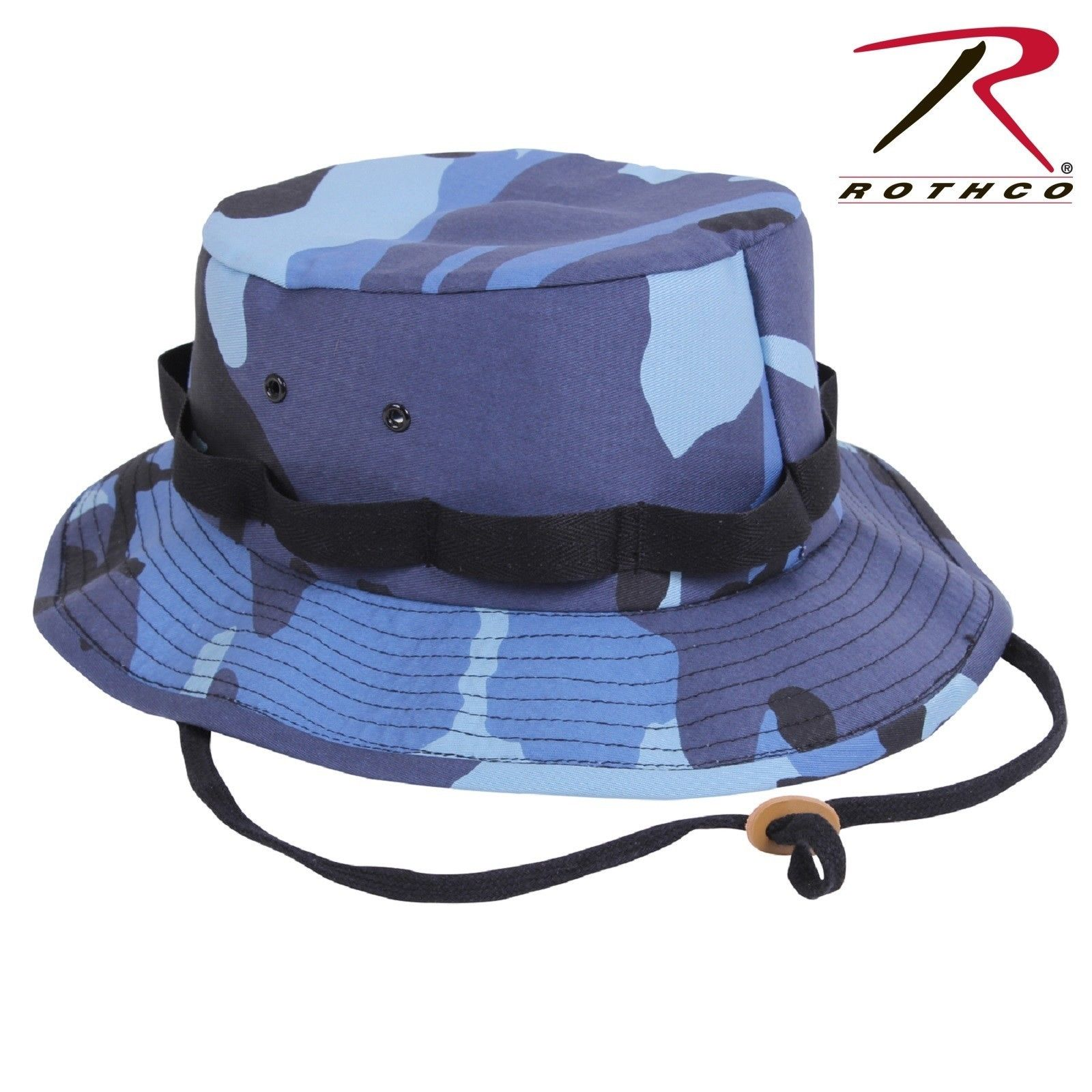 8673200ee19 Mens Rothco Sky Blue Camo Camouflage Jungle Boonie Hat. Zoom. Move your  mouse over image or click to enlarge