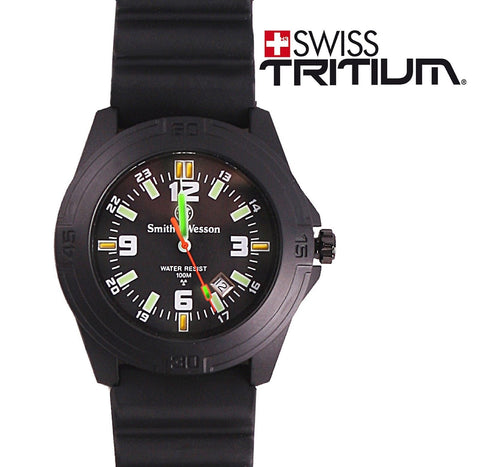 Smith & Wesson Tritium Soldier Watch Ultimate Black Ops Shock Resistant Watches
