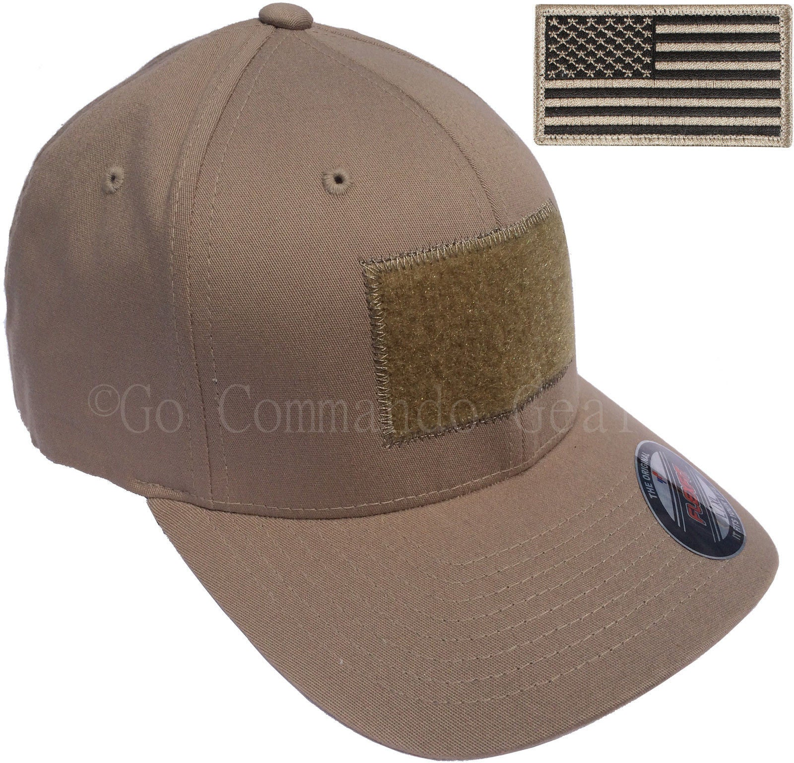 Men s Fitted 98% Cotton Flexfit Mid Profile Tactical Cap w Velcro Area and  Patch Men s Fitted 98% Cotton Flexfit Mid Profile Tactical Cap ... 6af97860cd6