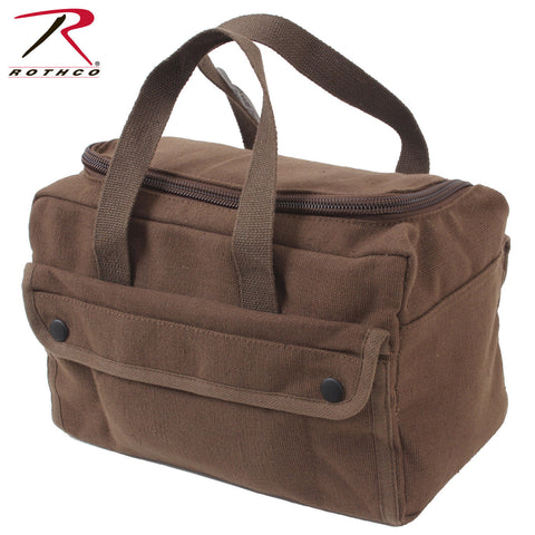 Rothco U-Shaped Earth Brown Canvas Tool Bag - Wide Mouth Zipper Tool Bag