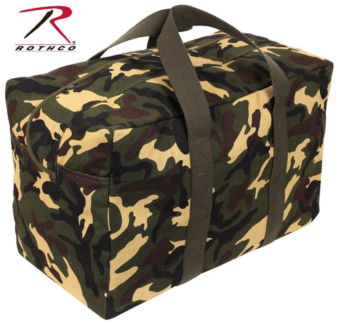 Woodland Camouflage Parachute Cotton Canvas Cargo Duffle Bag - Rothco 5123