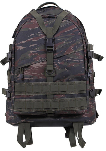 "19"" Tiger Stripe Camouflage MOLLE Adjustable Large Transport Pack Backpack Bag"