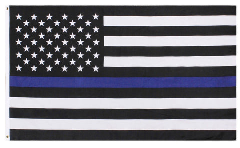 The Thin Blue Line Police Support Decorative USA Flag -Rothco 5 Foot Police Flag
