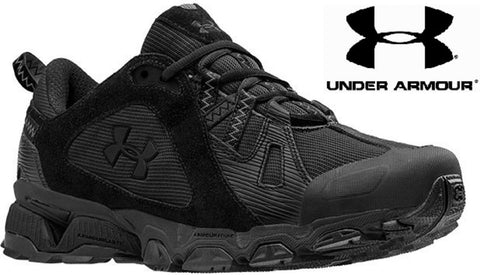 2735e1cfbaf Under Armour Mens Black Chetco Tactical Shoes - UA Lightweight Athleti –  Grunt Force