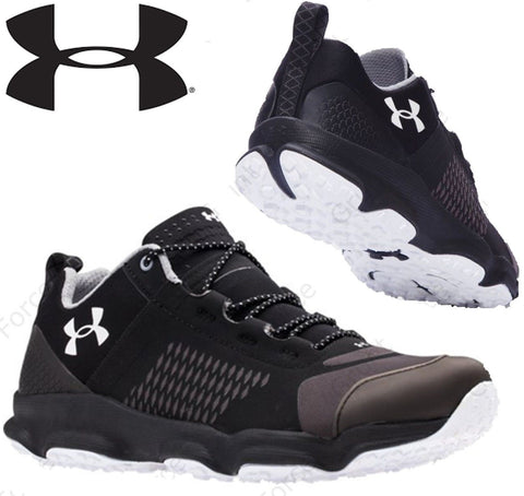 Under Armour Black or Gray Lightweight Speedfit Low Top Hiking Sneaker Shoes