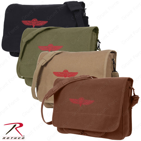 Over The Shoulder Canvas Messenger Bag - Rothco Canvas Israeli Paratrooper Bag