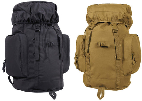"45 Liter Tactical Backpack- 22"" Coyote Brown or Black Hiking Day Pack Gear Bag"