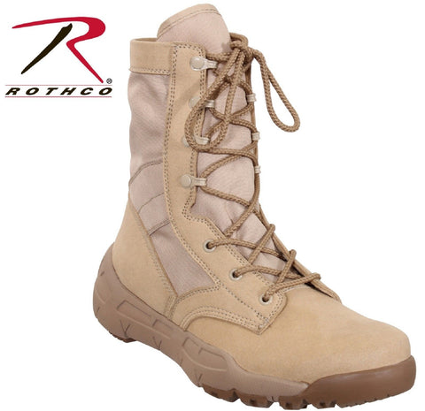 "Lightweight V-Max Tactical Boots - Rothco Desert Tan 8.5"" Field Duty Work Boot"